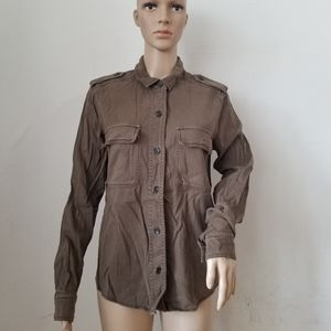 James Perse Button Down Top, Sz.3 or Large